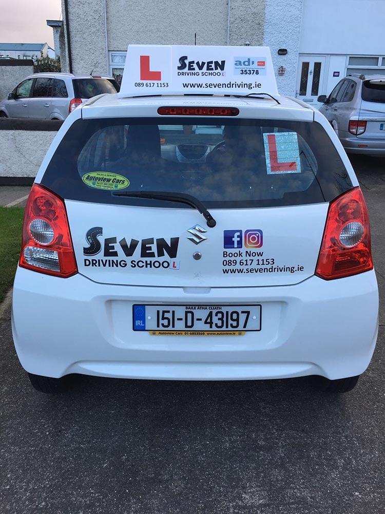 Seven Driving School Vehicle Back